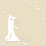 Paper wedding card Royalty Free Stock Images