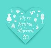 Paper Wedding Invitation Royalty Free Stock Image