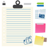 Paper whit Holidays icons Royalty Free Stock Photo