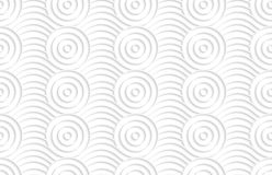 Paper white circles on bulging waves Royalty Free Stock Images