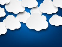 Paper white clouds on blue Royalty Free Illustration