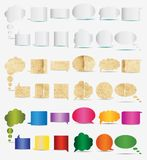 Paper, white and color dialogs icons Stock Photos