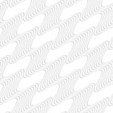Paper white diagonal striped waves Stock Photography