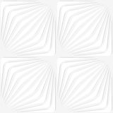 Paper white diagonally striped squares Royalty Free Stock Image