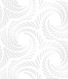 Paper white hexagons with swirled texture Royalty Free Stock Image