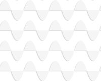Paper white horizontal semi ovals in row Stock Images