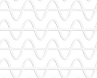 Paper white horizontal waves with level line Royalty Free Stock Photo