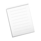 Paper white note. Vector white note for your design Royalty Free Stock Photo