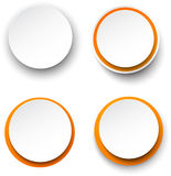 Paper white-orange round speech bubbles. Royalty Free Stock Photo
