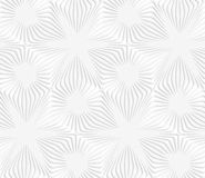 Paper white perforated stripes forming stars Stock Photo