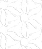 Paper white pointy leaves forming flower Stock Image