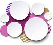 Paper white round speech bubbles. Stock Photos