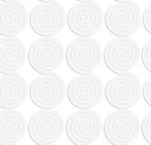 Paper white solid merging spirals Stock Photo