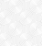 Paper white spirals on continues lines Royalty Free Stock Photo