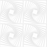 Paper white squares with inside swirling Stock Photos