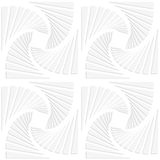 Paper white squares split and swirled Royalty Free Stock Photography