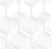 Paper white striped Chinese lanterns Stock Photography