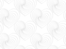 Paper white striped hearts Stock Photography