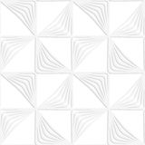 Paper white striped rotated triangles Stock Image