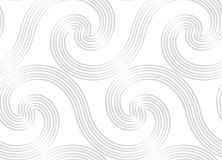 Paper white striped spiral waves big Stock Images