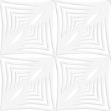 Paper white striped squares with thickening Royalty Free Stock Photos