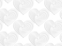 Paper white textured hearts Royalty Free Stock Image