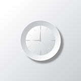 Paper White Time Stock Photo