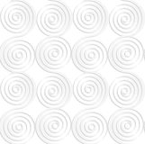 Paper white vertical merging spirals Stock Images