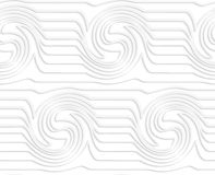 Paper white waves with swirls Stock Images