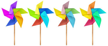Paper windmill pinwheels - Colorful Royalty Free Stock Image