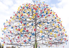 Paper windmill tree Royalty Free Stock Photography