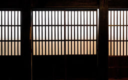 Paper Window of Old Japanese Samurai house Stock Photos