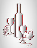 Paper wine list design. Vine abstract. Vector. Royalty Free Stock Photos