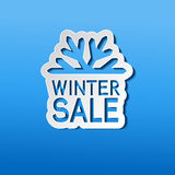 Paper winter sale, sticker - Christmas offer Royalty Free Stock Photography
