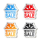 Paper winter sale, sticker - Christmas offer Stock Images
