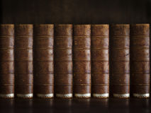 Paper wisdom. Bunch of old books , legal books , law books Royalty Free Stock Photos