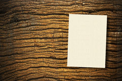Paper on wood. Cream papers on ancient wood with drop shadow Royalty Free Stock Images