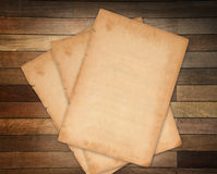 Paper on wood Stock Image