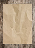 Paper and wood Royalty Free Stock Images