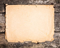 Paper on wood Royalty Free Stock Photography