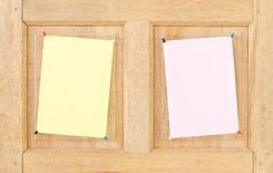 Paper on wood. Stock Photography