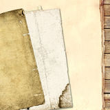 Paper and wood background Stock Photo