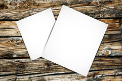 Paper. On the wood background royalty free stock images