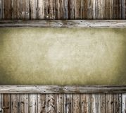 Paper and wood background Royalty Free Stock Photography
