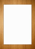 Paper on wood background Stock Photos