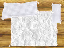 Paper on wood board Stock Image