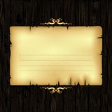 Paper with wood and ornate frame Stock Image