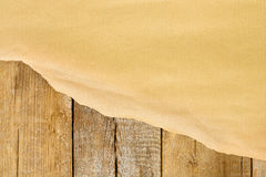 Paper on wood Stock Photography