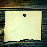 Paper on the Wooden Background Stock Photo