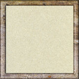 Paper in wooden frame. Recycled paper with natural fiber parts in wooden frame Stock Images